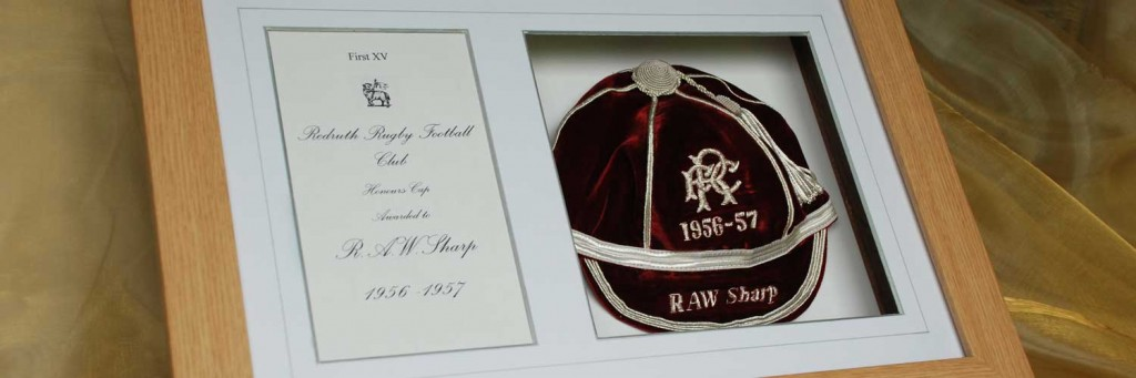 William Porter - Framed and mounted Honours Caps